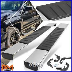 For 07-19 Silverado/Sierra Regular Cab 6Side Step Nerf Bar Running Board Chrome
