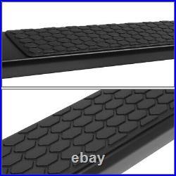 For 07-19 Silverado Sierra Standard Cab 5.5 Black Side Step Bar Running Boards