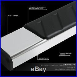 For 07-19 Silverado Sierra Standard Cab Stainless Steel Step Bar Running Boards