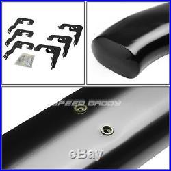 For 07-19 Silverado/sierra Ext 5 Black Curved Oval Step Nerf Bar Running Board