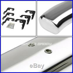For 07-19 Silverado/sierra Ext 5 Chrome Curved Oval Step Nerf Bar Running Board