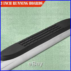 For 09-17 CHEVY TRAVERSE/GMC ACADIA 3 Running Board Side Step Nerf Bar Oval S/S
