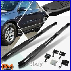 For 09-17 Chevy Traverse/GMC Acadia 3 Side Step Nerf Bar Running Board Black