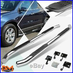 For 09-17 Chevy Traverse/GMC Acadia 3 Side Step Nerf Bar Running Board Chrome