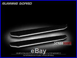 For 09-18 Traverse 6 Aluminum Stainless Black/Chrome Trim Step Running Board Vp