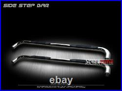 For 14-18 Chevy Silverado Double Cab 3 Chrome Side Step Nerf Bars Running Board