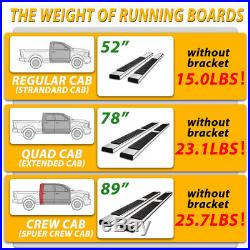 For 15-19 Colorado / Canyon Crew Cab 5 Running Board Nerf Bar Side Step S/S H