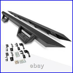 For 15-20 Colorado/Canyon Crew Cab 3 Side Nerf Bar Running Board+Down Step Pad
