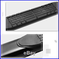 For 15-20 Colorado/Canyon Crew Cab Curved 4 Step Nerf Bar Running Board Black