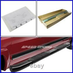 For 15-20 Colorado/canyon Crew 4 Black Curved Oval Step Nerf Bar Running Board