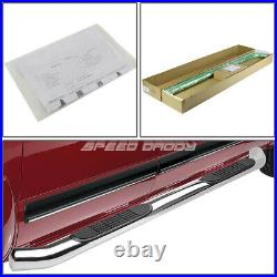 For 15-20 Colorado/canyon Crew Cab Chrome 3 Side Step Nerf Bar Running Board