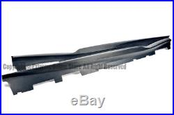 For 16-Up Chevrolet Camaro R Style Carbon Fiber Side Skirts Extension Lower Lip