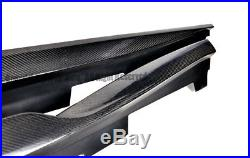 For 16-Up Chevrolet Camaro SS V8 R Style Carbon Fiber Front Lip With Side Skirts