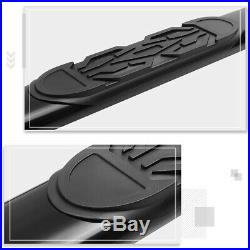 For 19-20 Chevy Silverado Ext Cab 6 Oval Side Step Nerf Bar Running Board Black