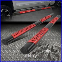 For 19-20 Silverado Sierra 5.5 Crew Cab Red Step Pads Side Bar Running Boards