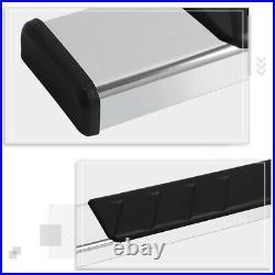 For 19-20 Silverado/Sierra Crew Cab 5 Side Step Nerf Bar Running Boards Chrome