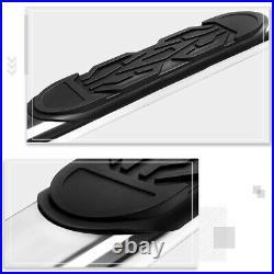 For 19-20 Silverado/Sierra Crew Cab 6 Oval Step Nerf Bar Running Board Chrome
