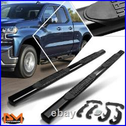 For 19-20 Silverado/Sierra Extended Cab 4 Oval Side Step Nerf Bar Running Board
