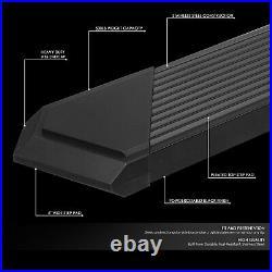 For 19-21 Chevy Silverado Gmc Sierra Ext Cab 6 Pleated Step Bar Running Board