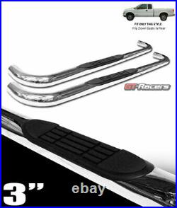 For 1982-2003 Chevy S10/Sonoma Ext Cab 3 Chrome Ss Side Step Bars Running Board