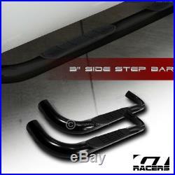 For 1982-2003 S10/S15 Sonoma Extended 3 Black Side Step Nerf Bars Running Board