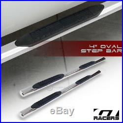 For 1999-2018 Silverado/Sierra Ext 4 Chrome Side Step Nerf Bars Running Boards