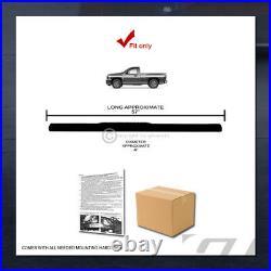 For 1999-2018 Silverado/Sierra Regular Cab 4 Black Side Step Bars Running Board