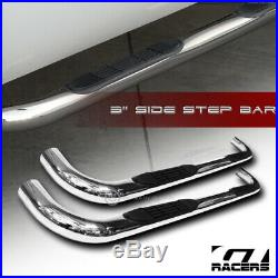 For 2001-2004 Chevy S10/Sonoma Crew 3 Chrome Side Step Nerf Bars Running Boards