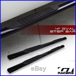 For 2001-2018 Silverado Crew Cab 4 Oval Black Side Step Nerf Bars Running Board