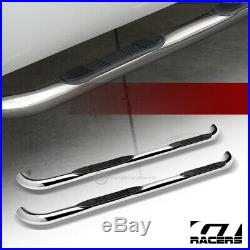 For 2004-2012 Chevy Colorado/GMC Canyon Crew Cab 3 Side Step Nerf Bar Hd Chrome
