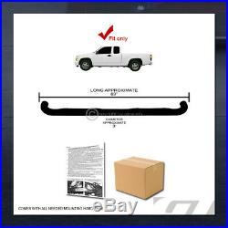 For 2004-2012 Chevy Colorado/GMC Canyon Extended 3 Side Step Nerf Bars Hd Black