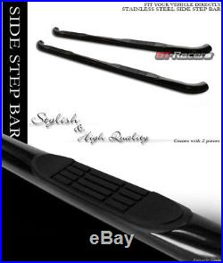 For 2007-2018 Chevy Silverado Ext Cab 3 Black Side Step Nerf Bars Running Board