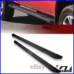 For 2007-2018 Chevy Silverado Extended 5 Matte Black TI Aluminum Running Boards