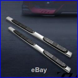 For 2007-2018 Chevy Silverado/Sierra Ext Cab 5 Oval Chrome Side Step Bars Board