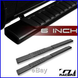 For 2007-2018 Silverado Ext/Double 6Aluminum Black Side Step Running Boards