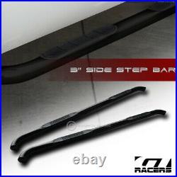 For 2007-2018 Silverado/Sierra Crew 3 Blk Hd Side Step Nerf Bars Running Board