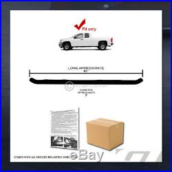 For 2007-2018 Silverado/Sierra Extended Cab 3 Side Step Nerf Bars Boards hd Blk
