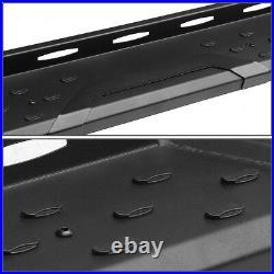 For 2007-2019 Chevy Silverado Crew Cab Black 5.5running Board Step Bar Lh+rh