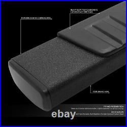 For 2007-2019 Gmc Sierra Chevy Silverado Crew Cab 6running Board Step Bar Black