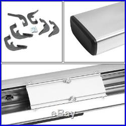 For 2007-2019 Silverado/sierra Ext Cab Black 6running Board Step Bar Lh+rh Side