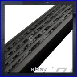 For 2007+ Silverado/Sierra Ext 5 Matte Blk Aluminum Side Step Running Boards I4