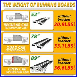 For 2014-2018 Silverado/sierra Crew Cab 6 Nerf Bar Side Step Running Boards