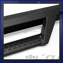 For 2015-2019 Colorado/Canyon Ext Matte Blk Hoop Drop Step Side Nerf Bars Boards