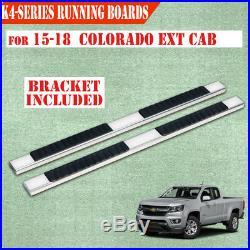 For 2015-2020 Colorado/Canyon Extended Cab 4 Nerf Bar Running Board Step S/S H