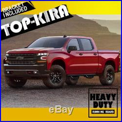 For 2019-2020 Chevy Silverado Double Cab 3 Running Board Nerf Bar Side Step BD