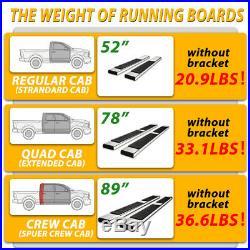 For 2019-2020 SILVERADO/SIERRA Double Cab 6 Running Board Nerf Bar Side Step H