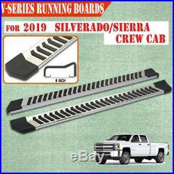 For 2019-2020 Silverado/Sierra Crew Cab 6 Running Board Nerf Bar Side Step V SS