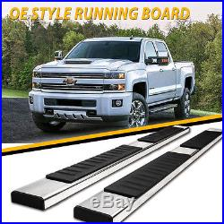 For 2019 SILVERADO/SIERRA Double Cab 5 Nerf Bar Running Board Side Step S/S H