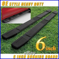 For 2019 Silverado/Sierra Double Cab 6 Running Board Side Step Nerf Bar Black S