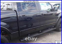 For 6 07-18 Chevy Silverado GMC Sierra Crew Cab Black Side Step Running Board